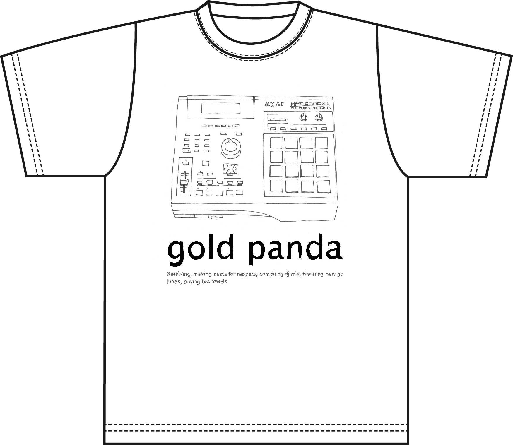 GOLD PANDA_TSHIRTS